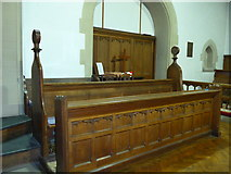 SD3097 : St Andrew, Coniston:choir stalls by Basher Eyre