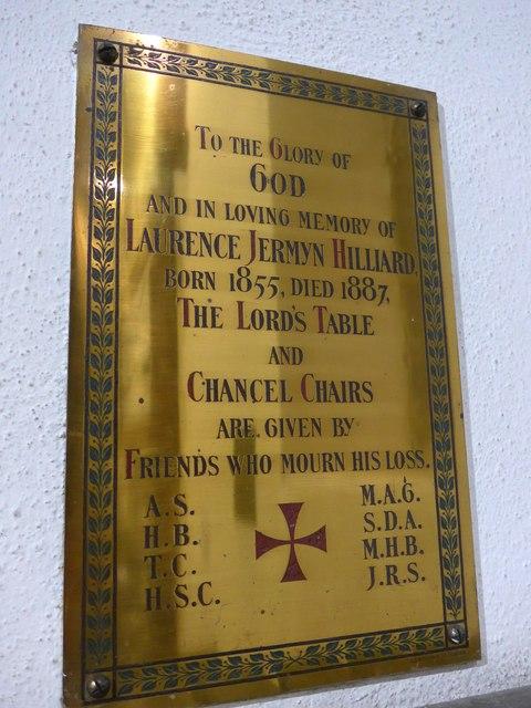 St Andrew, Coniston:memorial (vi)