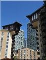 TQ3779 : Canary Wharf flats, London E14 by Jim Osley