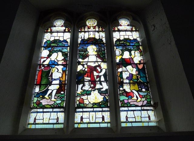 Holy Trinity, Colton: stained glass window (b)