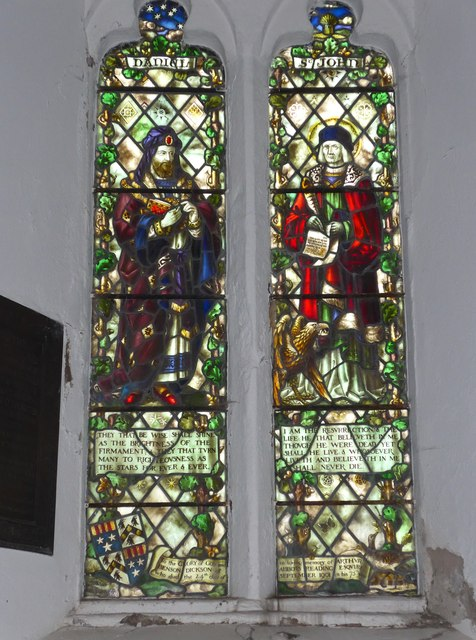 Holy Trinity, Colton: stained glass window (e)