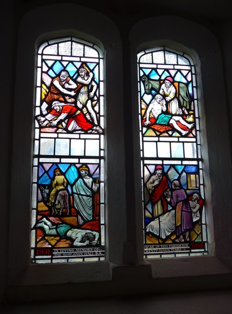 Holy Trinity, Colton: stained glass window (g)