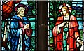 TF4710 : Walsoken: All Saints Church: Stained glass window by Michael Garlick