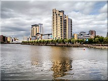 SJ8097 : Salford Quays, Sovereign Point by David Dixon