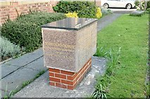 SJ7996 : Foundation stone from the Westinghouse factory by Alan Murray-Rust
