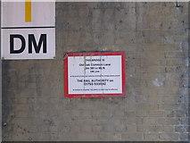 TQ2181 : Bridge identification, Old Oak Common Lane by David Hawgood