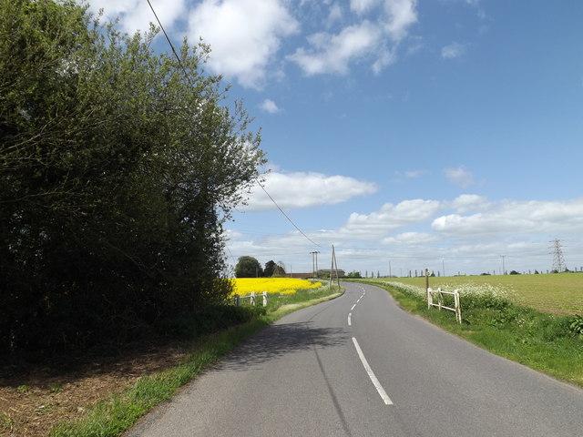 B1117 Station Road, Laxfield