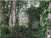 TQ2181 : Fence around Old Oak Common railway area by David Hawgood