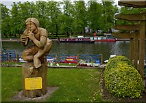 SP0343 : Park and river, Evesham by Paul Harrop