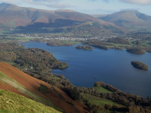 Derwent Water viewed from the top of Cat Bells