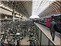 TQ2681 : Bike racks, Paddington Station by Hugh Venables