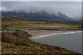 NM9755 : Unnamed Beach from Rubha Meadhonach by Anne Burgess