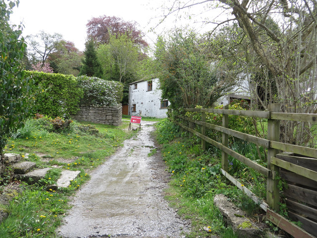 Temporary re-routed footpath