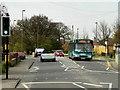 SU9852 : Bus on Worplesdon Road, near Stoughton by David Dixon