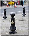TM3389 : Street bollards by M H Evans