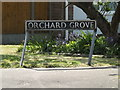 TM1180 : Orchard Grove sign by Adrian Cable