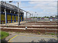 TQ2282 : Hitachi Intercity Express depot, Old Oak Common sidings by David Hawgood
