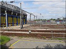 TQ2282 : Hitachi Intercity Express depot, Old Oak Common sidings by David Hawgood