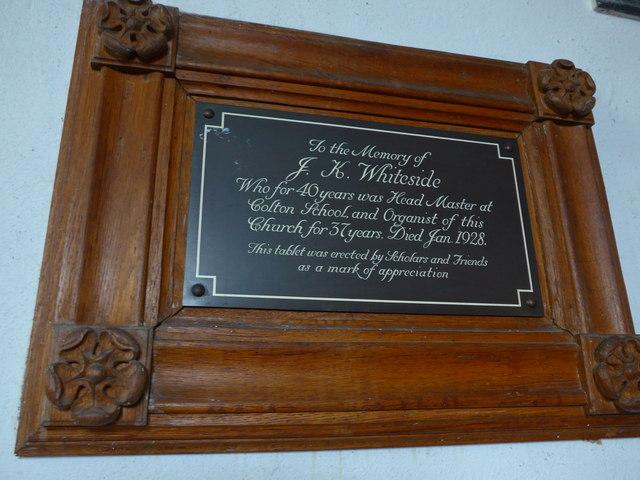 Holy Trinity, Colton: memorial (7)