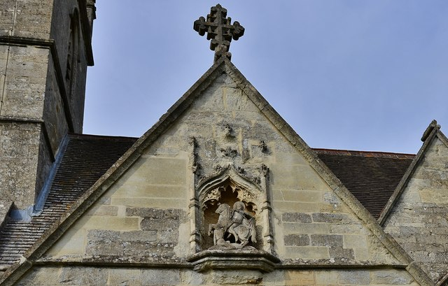 Bladon: The Parish Church of St Martin: Porch detail