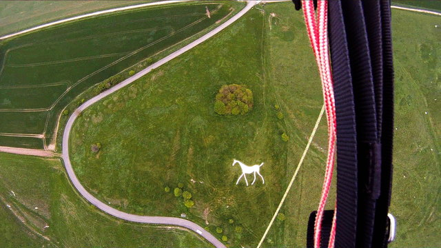 Aerial View of Hackpen White Horse, Wiltshire