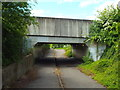 TQ6688 : Bridge over path, near Laindon by Malc McDonald