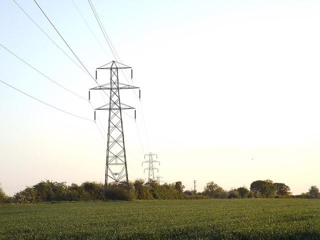 Pylons at Dunton, Essex