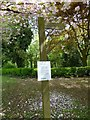 SJ9495 : Notice on the sign to the Woodland Walk  by Gerald England