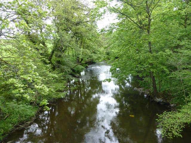 View downstream on the River Wansbeck