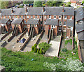 SK9771 : Houses in Union Road Lincoln, view from castle walls by David Hawgood