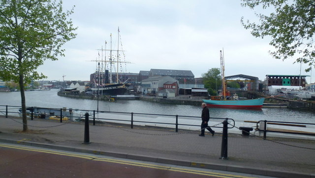 Towards the SS Great Britain