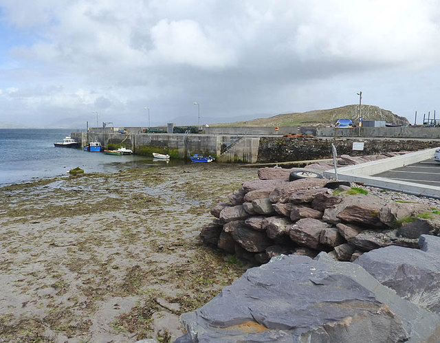 Ballinskelligs quay (Horse Island in background)