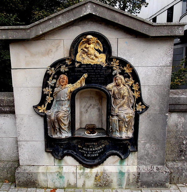 Former Victorian drinking fountain, Cardiff