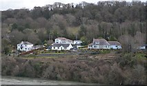 SH5571 : Bungalows on the banks of the Menai Straits by N Chadwick