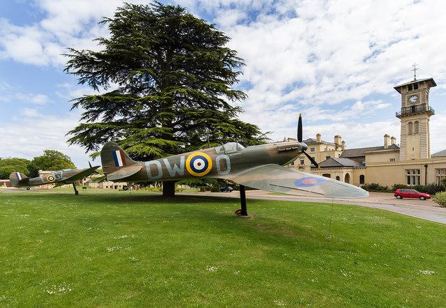Spitfire and Hurricane outside Bentley    © David P Howard