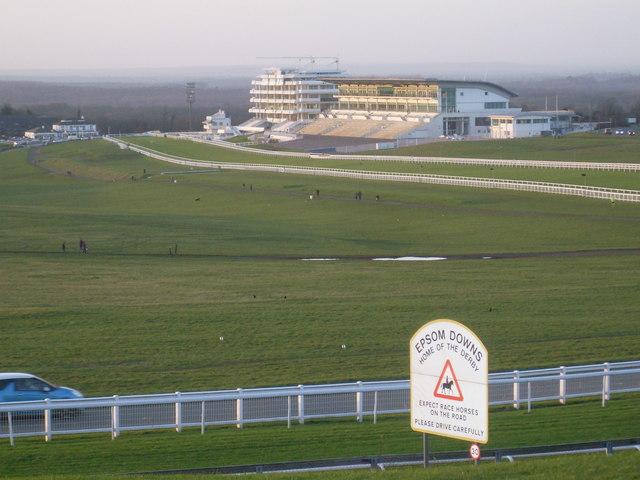 Epsom Racecourse from Tattenham Corner
