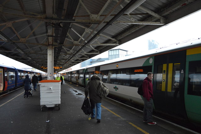 Southern train, Portsmouth Harbour Station