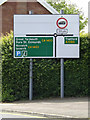TM1179 : Roadsign on the B1077 Denmark Street by Adrian Cable