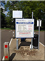 TM1180 : Shelfanger Road Car Park sign by Adrian Cable