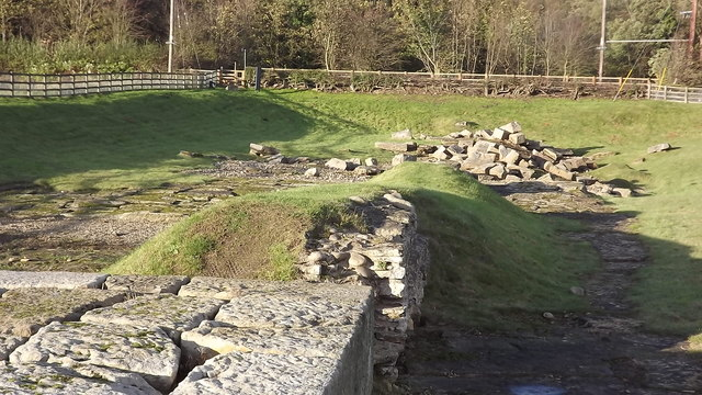 Remains of the Roman bridge at Piercebridge
