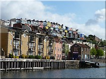 ST5772 : The colourful terraces of Clifton Wood by Christine Johnstone