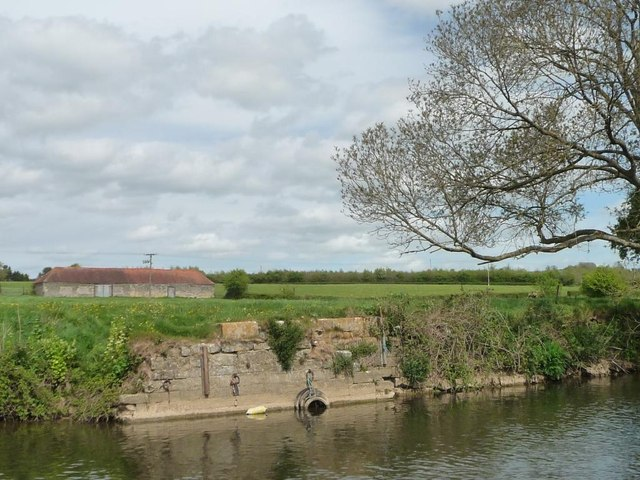 Remains of a wharf, north bank of the River Avon