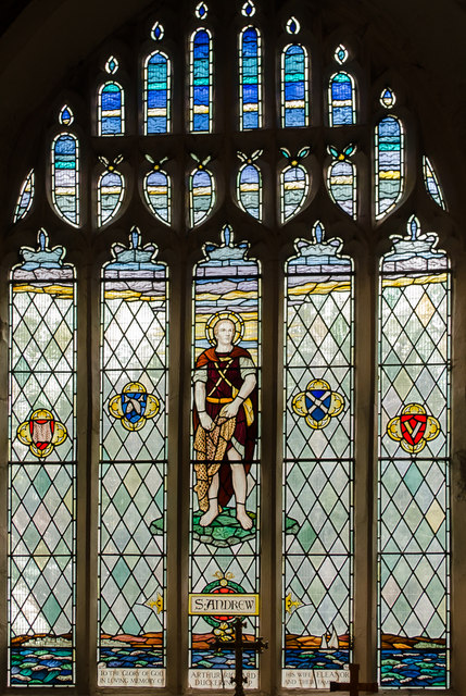 St Andrew stained glass window, St Andrew's church