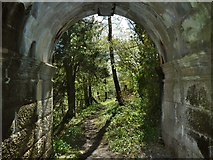NS4276 : Passing under Overtoun Bridge by Lairich Rig