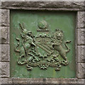 SD5837 : Close-up of the crest on the pump house by Ian Greig