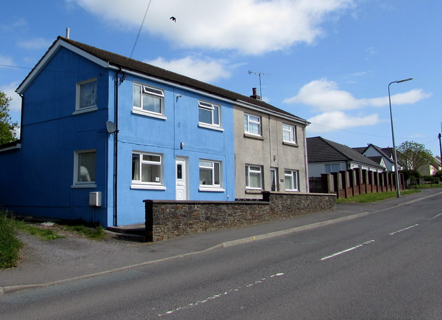 Blue house in Whitland