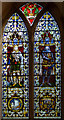 SK8378 : Stained glass window, St Peter's church, Torksey by Julian P Guffogg