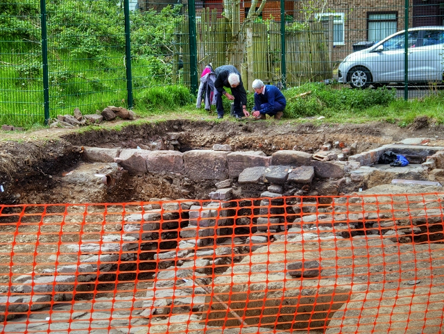 Radcliffe Tower Archaeological Dig, Foundations of Manor House