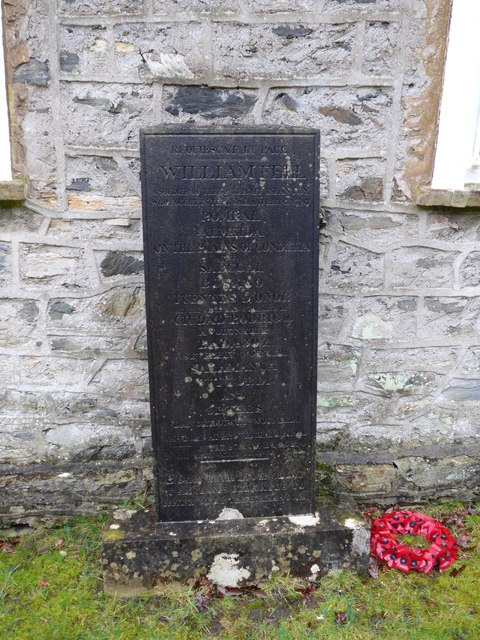 War Memorial, St Anne Haverthwaite: mid February 2015