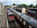 TL0997 : Trains in Wansford Station by Richard Humphrey